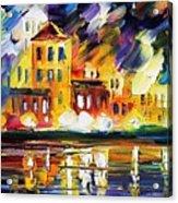 Harbor's Flames Acrylic Print