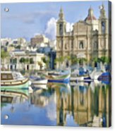Harborside Msida Malta Acrylic Print