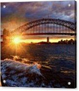 Harbour Bridge Sunset By Kaye Menner Acrylic Print