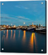 Harbour Lights At Dawn Acrylic Print