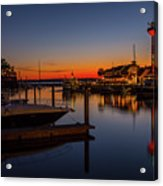 Harbour Town Lighthouse Sunset Acrylic Print
