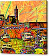 Harbour View Porthleven Cornwall Acrylic Print