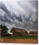Hard Days - Abandoned Home On West Texas Plains Acrylic Print