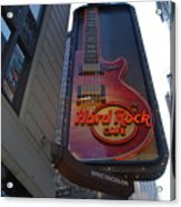 Hard Rock Cafe N Y C Acrylic Print by Rob Hans