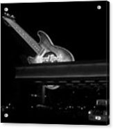 Hard Rock Cafe Sign 2 B-w Acrylic Print