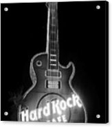 Hard Rock Cafe Sign B-w Acrylic Print
