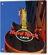 Hard Rock Guitar Detroit Acrylic Print