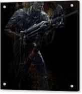 Hard Rock Mining Man Acrylic Print