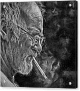 Hard Working Man Acrylic Print