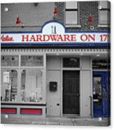 Hardware On Seventeenth Acrylic Print