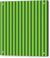 Harlequin Green Striped Pattern Design Acrylic Print