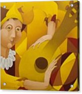 Harlequin With Lute  2003 Acrylic Print