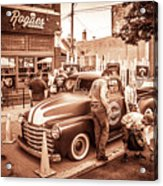 Harley 110 In Downtown Milwaukee Acrylic Print