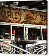 Harley Beach Bar Acrylic Print by Jasna Buncic