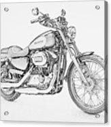 Harley Davidson 1200 Custom Acrylic Print