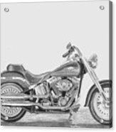 Harley-davidson Fatboy Motorcycle Art Print Acrylic Print