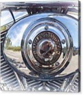 Harley Davidson Motorcycles Art Acrylic Print