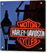 Harley Davidson New Orleans Acrylic Print