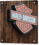 Harley Davidson Sign In West Jordan Utah Photograph Acrylic Print