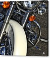 Harley Frontal In White Acrylic Print