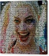 Harley Quinn Quotes Mosaic Acrylic Print