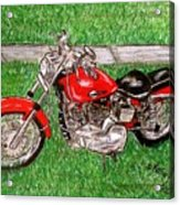 Harley Red Sportster Motorcycle Acrylic Print