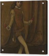 Harmony In Yellow And Gold, The Gold Girl Connie Gilchrist , James Mcneill Whistler Acrylic Print