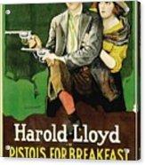 Harold Lloyd In Pistols For Breakfast 1919 Acrylic Print
