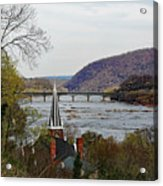 Harpers Ferry - Shenandoah Meets The Potomac Acrylic Print