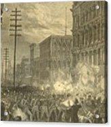 Harpers Sixth Regiment Fighting Railroad Strikers Acrylic Print