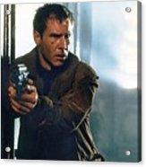 Harrison Ford As Rick Deckard A Blade Runner  In Blade Runner 1982 Acrylic Print
