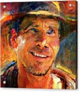 Harrison Ford Indiana Jones Portrait 3 Acrylic Print