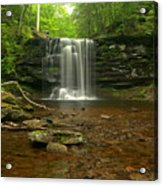 Harrison Wrights Falls In The Forest Acrylic Print