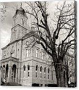 Harrisonburg, Rockingham County Courthouse, Virginia - Bw 1 Acrylic Print