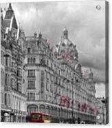 Harrods Of Knightsbridge Bw Hdr Acrylic Print