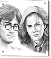 Harry Potter And Hermione Acrylic Print