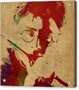 Harry Potter Watercolor Portrait Acrylic Print