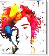 Harry Styles Paint Splatter Acrylic Print