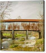 Harshaville Covered Bridge  Acrylic Print