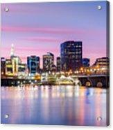 Hartford Purple Twilight Acrylic Print
