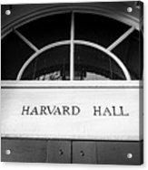 Harvard Hall Acrylic Print