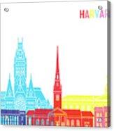 Harvard Ma Skyline Pop Acrylic Print