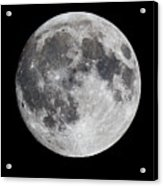 Harvest Moon At 99 Pct. Waxing Gibbous Acrylic Print