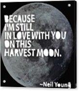 Harvest Moon Acrylic Print
