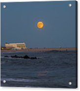 Harvest Moon Over Cape May Acrylic Print