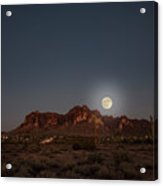 Harvest Moon Over Superstition Mountain Acrylic Print
