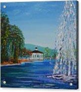 Harveston Lake Fountain Acrylic Print