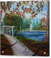 Harveston Lake Path Acrylic Print