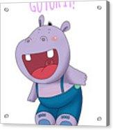 Harvey Hippo Go For It Lt Acrylic Print