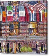Hassam: Allied Flags, 1917 Acrylic Print